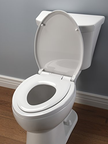 This unique toilet seat with potty attached stands out from the others  on our list because it includes a safety night light The child is Toilet Seat With Potty Attached ToiletAndPottySeats com